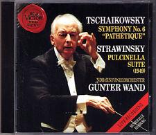 Günter WAND TCHAIKOVSKY Symphony No.6 STRAVINSKY Pulcinella Gunter CD Pathetique