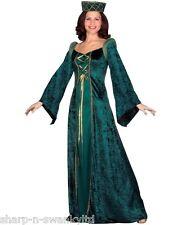 Ladies Renaissance Medieval Banquet Fancy Dress Costume Outfit 8-26 Plus Size