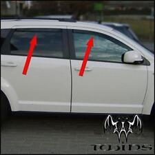 Set 4 Deflettori Aria Antiturbo Oscurati Fiat Freemont  anteriori + posteriori