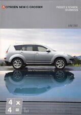 Citroen c-crosser 2007 uk market sales brochure 2.2 hdi vtr + exclusive