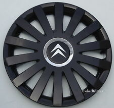 "Brand New black gloss  14"" wheel trims hub caps to fit Citroen  C1,C2,Saxo"