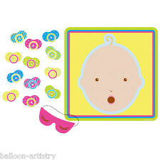 14 Piece Baby Shower Pin The Pacifier Party Game Set