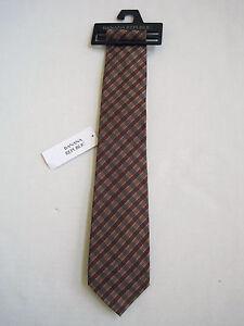 BANANA REPUBLIC Men's Rust Plaid 100% Silk Tie One Size NWT