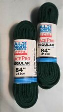Hockey skate laces A.L. Sports products, 2 pair, Green, 84in.