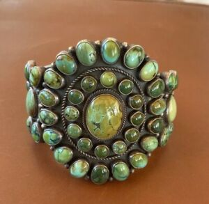 Rare Kirk Smith Turquoise Cluster Cuff Large!