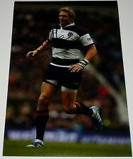 JEAN DE VILLIERS BARBARIANS RUGBY HAND SIGNED AUTOGRAPH 12X8 PHOTO