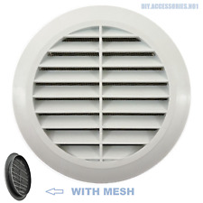 """WHITE 100 mm 4"""" Circle Air Vent Grille Round Ducting Cover"""