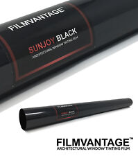 SunJoy Black Home Commercial Solar Uv Window Tinting Film Light Tint to Privacy
