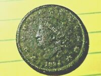 1834  LIBERY HEAD LARGE CENT -- 185 years old