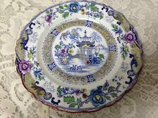 Antique, French,Terre de Fer Creil et Montereal, Gaudy Blue Willow 6.5in Plate