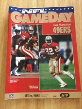 Jets Vs. 49ers NFL Game Day Magazine Jerry Rice & John Taylor On Cover Sep. 1992
