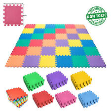 18Pcs EVA Foam Mat Interlocking Puzzle Exercise Mat Foam Tiles Kids Play Mat
