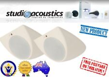 "STUDIO ACOUSTICS SAO200W 6"" 80W INDOOR OUTDOOR CEILING MOUNT SPEAKERS PAIR"