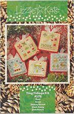 Lizzie Kate Christmas Tiny Tidings XX 5 Cross Stitch Charts + Charm & Buttons