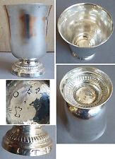 Timbale en argent massif 18e siècle fermiers généraux silver glass 18th century