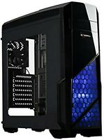 Rosewill ATX Case, Mid Tower Case with Blue LED Fan/Gaming Case for PC with Side