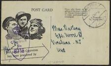 UK GB EGYPT 1944 WWII PREPAID CIGARETTE GIFT POST CARD THANK YOU CANCEL READ EGY