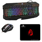 New Multi-Function LED Backlit USB Wired Gaming Keyboard and Mouse Combo Set