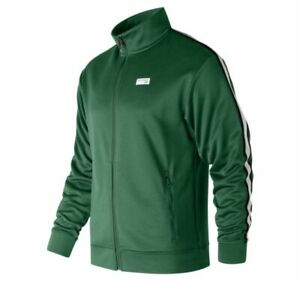 New Balance ATHLETIC TRACK JACKET WITH GREEN/MULTICOLOR MJ91556