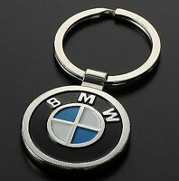 🌟BMW🌟GENUINE SOLID METAL 3D CHROME DOUBLE SIDED KEYRING KEYCHAIN FOB