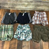 Lot of 6 Toddler Boys Shorts Athletic Plaid Carters Gymboree Childrens Place 18m