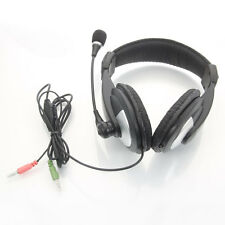 3.5mm Jack Stereo Headphone Earphone with Mic Microphone for PC Computer Laptops