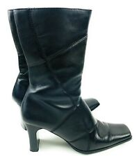 Diba Napa Womens Leather Boots Size 8 M Black