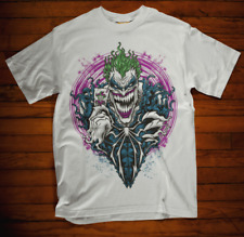 Joker T-shirt Venom Paradox Gotham Movie Bat Retro Halloween Horror white gift