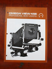 OMEGA VIEW 45E SALES BROCHURE/212049