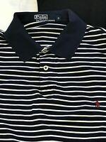 POLO RALPH LAUREN Mens Polo Shirt BLUE WHITE COTTON Short Sleeve S GOLF SHIRT