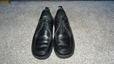 Lacoste Mens shoes loafers black leather size 9 Sanremo Chaussures