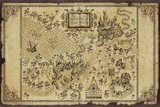 Harry Potter Wizarding World Map Art Wall Indoor Room Poster - Poster 24x36