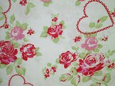 Cottage Shabby Chic Valentine Rose True Love Roses Fabric PWTW083-Red BTY