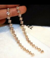 Crystal Gold Colour High Quality -we�- Long Light Weight Earrings