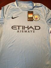 Manchester City Football Club Etihad Airways Jersey Men's Medium Light Blue
