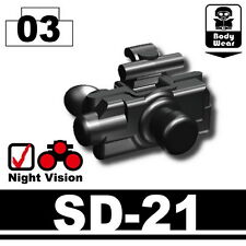 SD-21 (W184)Tactical Army Night Vision Goggles compatible w/toy brick minifigure