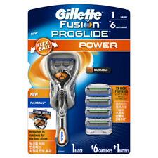 Original Gillette Fusion ProGlide Power 1Shaver + 6 Refill Razor Blade Cartridge