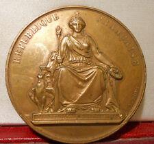1895 médaille récompense Instruction bronze par Bovy RF Bureau Météo