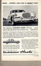 1956 Print Ad Studebaker Golden Hawk 275 HP Most Power by Pound