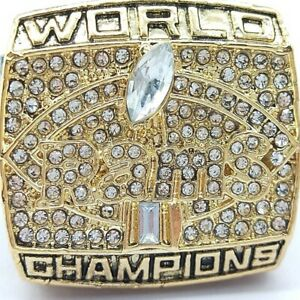 1999 St. Louis Rams  Football NFL Super Bowl 18k Gold Plated Championship Ring