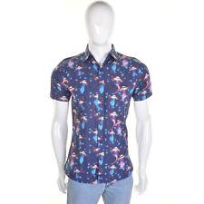 Retro UFO Print Shirt by Run and Fly L Sci Fi Rockabilly 50s BNWT/NEW