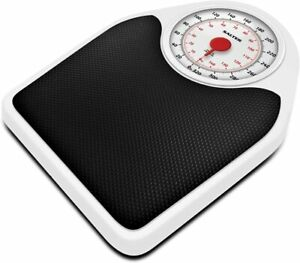 Salter Doctor Style Mechanical Bathroom Scales – Retro White + Black Accurate