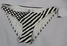 NEW Body Glove Black & White Striped Bikini Bottom Size XS (S1-78)