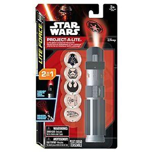 Disney Star Wars Sabre Projet A Lite - 2 IN 1 Torche Ou Projecteur 6 X Disques
