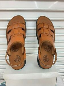 Mens Leather Cross Strap Sandals Jesus Style Summer Holiday Beach Walking Mules.