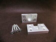 2 support penderie diametre 15mm en aluminium massif