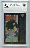 1994 Upper Deck #19 Michael Jordan Baseball Rookie Card BGS BCCG 10 Mint