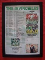 Celtic Scottish Premiership champions 2017 - Celtic Invincibles - framed print