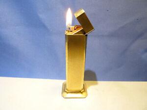 Dunhill Tallboy Tischfeuerzeug in Gold - gasdicht & funktionsfähig - Rarität -