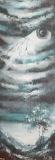 1998 Landscape surrealism oil painting signed